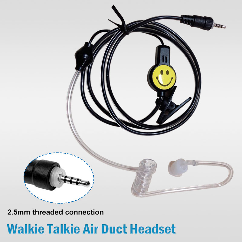 Walkie Talkie Smile Earpiece Dual PTT Ear Hanging Headset Earphone For Puxing For Baofeng For Ham Two Way Radio