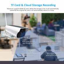 Solar Power 4G Sim Card Wireless Ip Camera Recharge Battery 1080P Ir Night View Outdoor Video Surveillance Camera Solar Panel