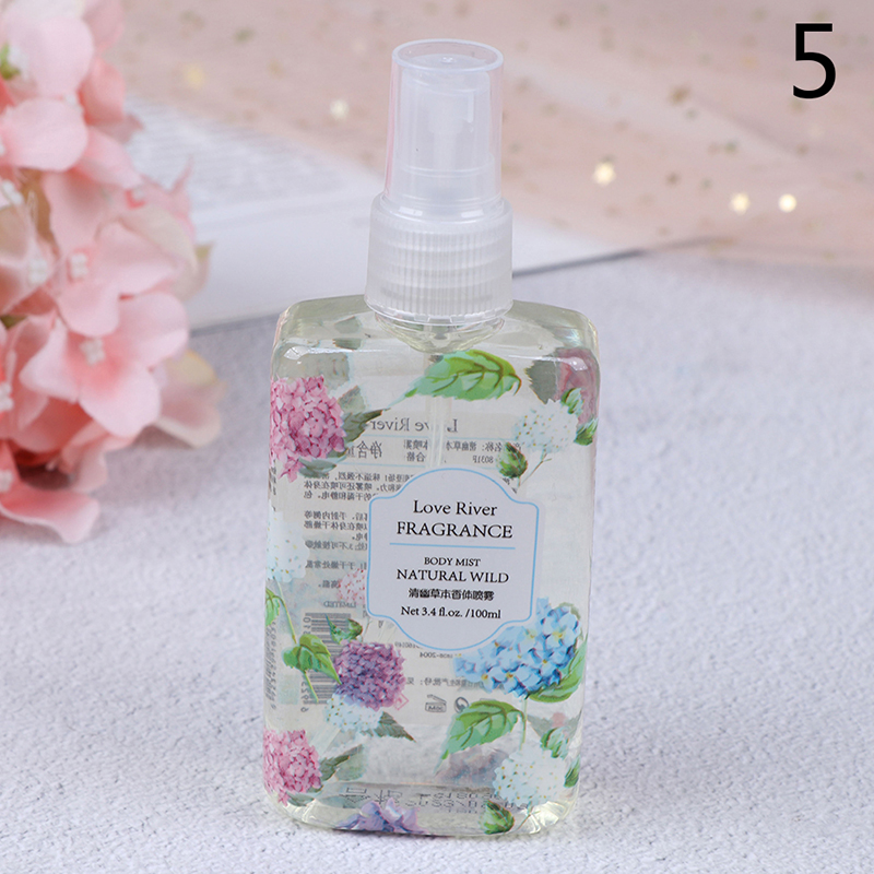 6 Flavors Fragrance Spray 100ml Fragrance Body Mist Naturally Wild Fresh Scent Perfume Portable Travel Perfume In Bag