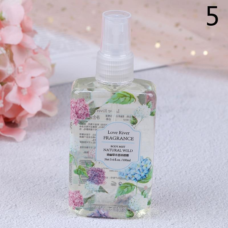 6 Flavors Fragrance Spray 100ml Fragrance Body Mist Naturally Wild Fresh Scent Perfume Portable Travel Perfume In Bag