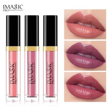IMAGIC 3PCS Matte Waterproof Lip Balm, Lip Gloss Lasting Matte Bare Lipstick Set