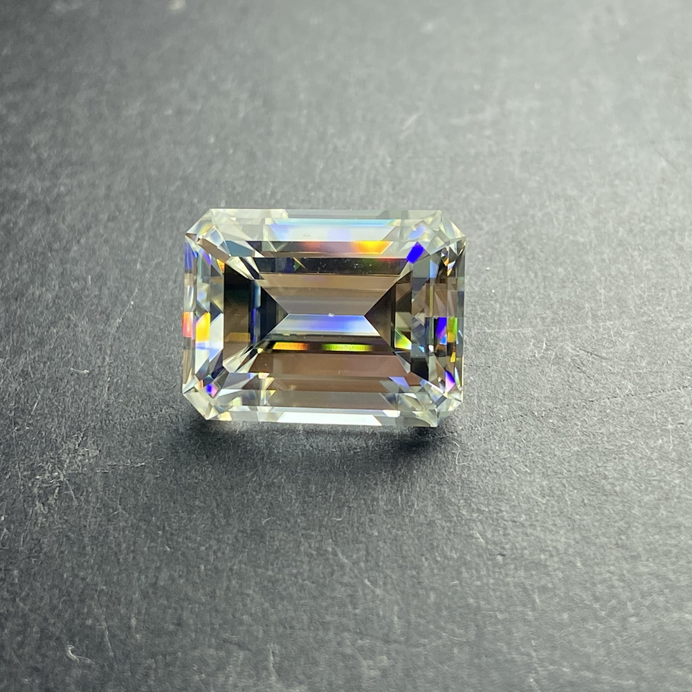 3*5 mm Emerald Cut 0.27 carat White VVS1 D Lab Created diamond Moissanite Stone Loose Moissanite Diamond ring jewelry image