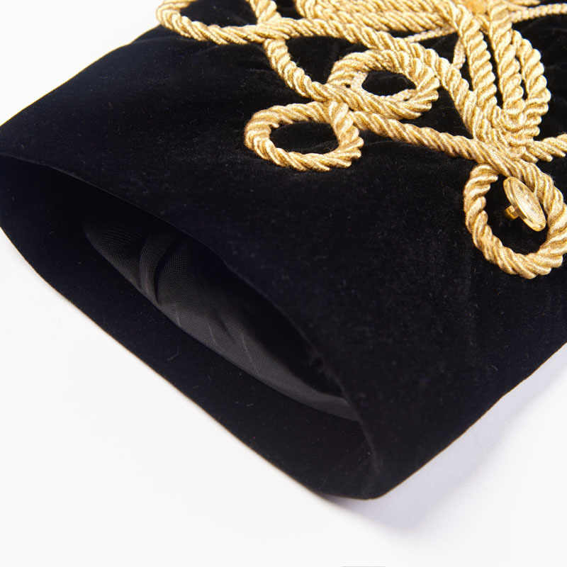 PYJTRL メンズプラスサイズ Handmake ブラックゴールドの刺繍ベルベットブレザー DJ 歌手ナイトクラブ衣装スタイリッシュなスーツジャケットステージ着た