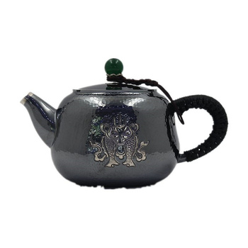 Teekanne, edelstahl teekanne, silber teekanne, heißer wasser teekanne, teekanne 300 ml wasser, kung fu tee-set.