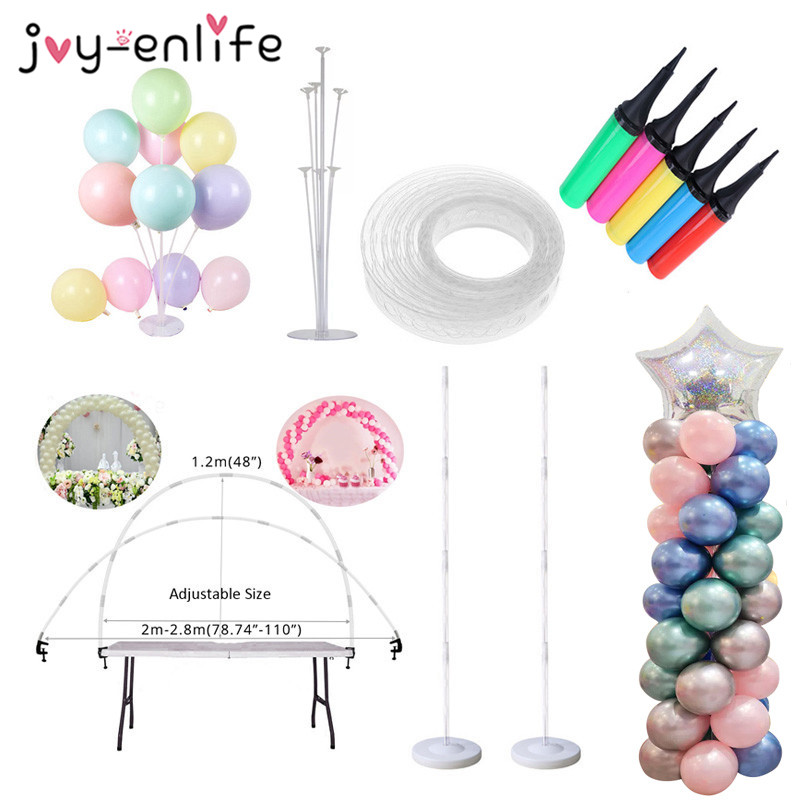 Ballons Accessories Balloon Arch Balloon Chain Stick Birthday Balloons Pump Inflatable Tube Baby shower Wedding Party Supplies(China)