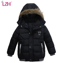 Winter Jackets Coats Outerwear Boys Hooded Toddler Baby Warm Autumn LZH for Children