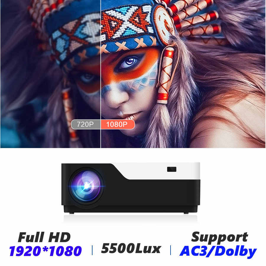 Vivicine M18 1920X1080 vrai projecteur Full HD, HDMI USB PC 1080p LED maison multimédia jeu vidéo projecteur Support AC3
