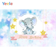 Yeele Elephant Baby Shower Birthday Party Dreamy Photography Backdrop Personalized Photographic Backgrounds For Photo Studio