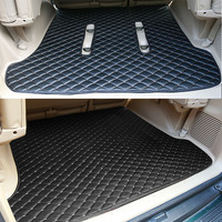 Leather Car Rear Trunk Floor Mat Carpets For Toyota Land Cruiser Prado 120 FJ120 2003 2004 2005 2006 2007 2008 2009 Accessories