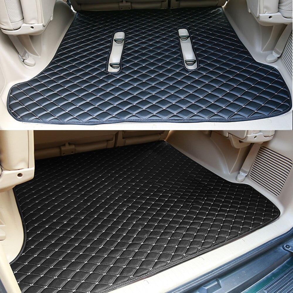 Leather Car Rear Trunk Floor Mat Carpets For Toyota Land Cruiser Prado 120 FJ120 2003 2004 2005 2006 2007 2008 2009 Accessories