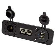 Flush Mount Anderson Plug Socket Double USB Charger Socket Panel for Caravan Camper Boat Truck