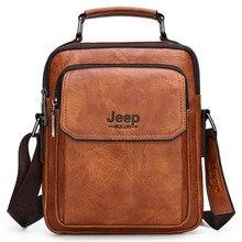 Brand Men's Shoulder Bag Business Casual Leather Men Hand
