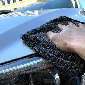 Image 5 - منشفة سيارة من الألياف الصغيرة غسل السيارات بالتفصيل القماش تنظيف السيارات 600GSM تجفيف تلميع منشفة ناعمة خرقة لسيارة المطبخ اكسسوارات السيارات