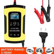 12v 6a chumbo ácido bateria-carregadores inteligente carro motocicleta chumbo carregador de bateria display lcd digital para automóvel moto