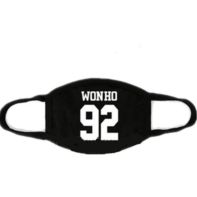 Kpop MONSTA X Mask Cotton Mouth HYUNGWO Face Muffle I.M SHOWNU WONHO MINHYUK Mouth Mask Fashion Mask