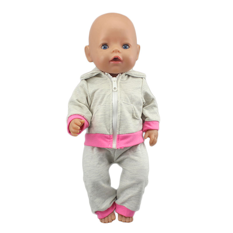 2020 New Doll Jump Suits Fit For 43cm Zapf Baby Doll 17 Inch Reborn Baby Doll Clothes