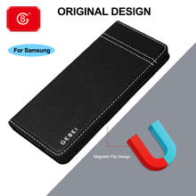 Luxury Brand Genuine Leather Case For Samsung Galaxy Note 8 9 10 S7 Edge S8 S9 S10 Plus E Phone Full Protective Flip Cover Cases(China)