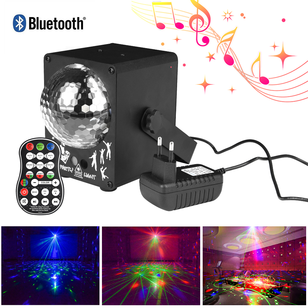 Music Activated LED Disco Light  60 Patterns RGB Laser Projector Christmas Lighting Effect For Home Party Wedding DJ Stage Light
