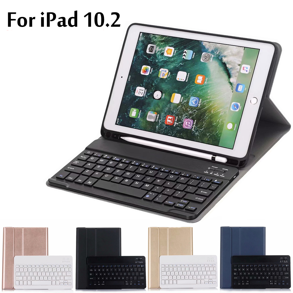 Case For IPad 10.2 Case Ultra Thin Detachable Wireless Bluetooth Keyboard Case Cover For IPad 7th Generation A2200 A2197 A2198