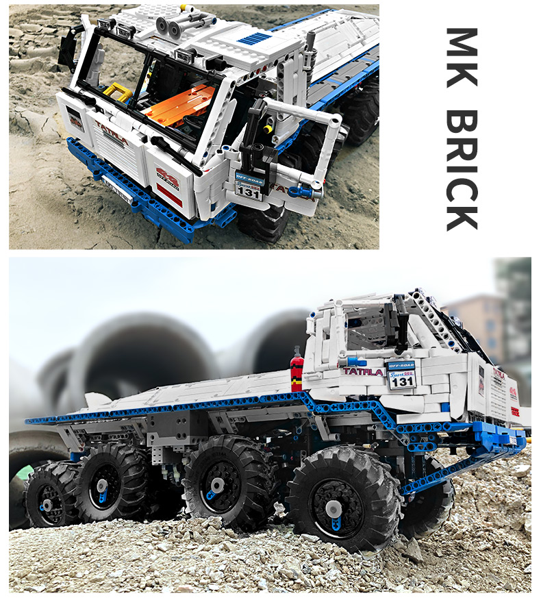 MOULD KING 13144 Compatible 27092The Arakawa Moc Tow off-road Truck Tatra 813 8x8 Building Block (3647PCS) 17