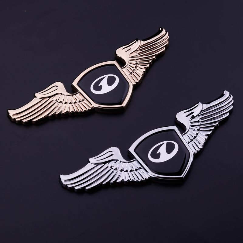 For FAW Pentium All series Alloy <font><b>Wings</b></font> Front Hood Emblem Badge Decal <font><b>Car</b></font> Front Trunk Stickers for Pentium B50 B70 B90 X80 T77 image