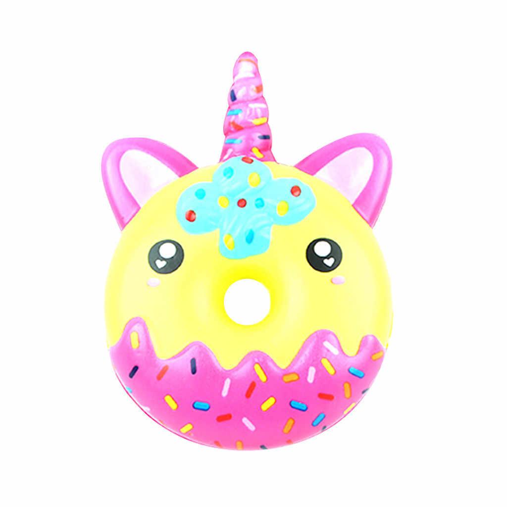 כיף סופגנייה לסחוט איטי עולה קרם ריחני חמוד צעצועים לילדים איטיים לחץ ריבאונד צעצוע #