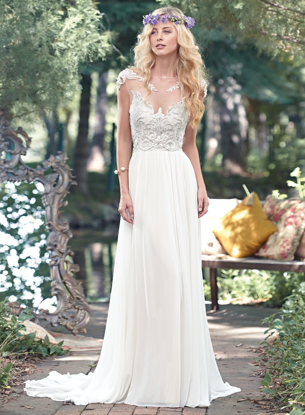 Lace Wedding Dress 2016 See Through Sexy Beach Wedding Dresses Court Train Beaded China Online Store Robe De Mariage W122410