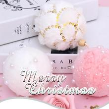 цены 7/8cm Merry Christmas Rhinestone Glitter Baubles Tree Balls Decoration for Home Xmas Tree Hanging Foam Balls Ornaments