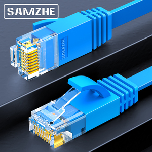 Image 1 - SAMZHE CAT6 שטוח Ethernet כבל RJ45 Lan כבל רשת Ethernet תיקון כבל למחשב נתב נייד