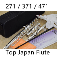 Japan Top Flute Professional Cupronickel C Key 16 Hole Flute 471 Silver Plated Musical Instruments With Case and Accessories