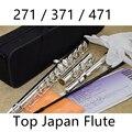 Топ японская флейта FL-471 Профессиональный Мельхиор C Ключ 16 Флейта с отверстиями с серебряным покрытием музыкальный инструмент с Чехол и акс...