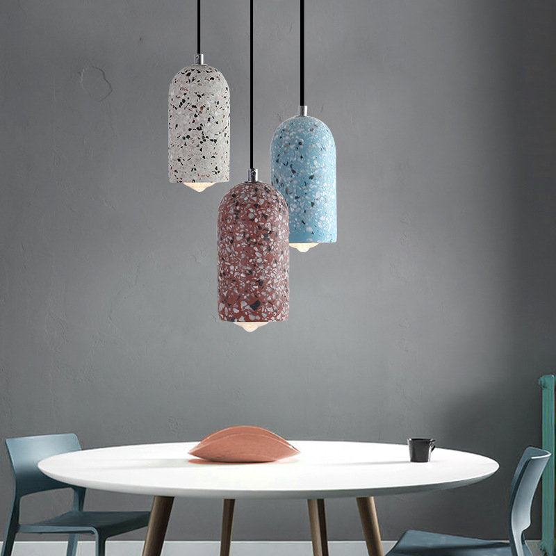 Creative Nordic cement chandelier window bar single head decoration LED personality bedroom bedside pendant lamps YHJ011714