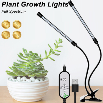LED Plant Grow USB Light Bulb 9W 18W 27W Clip Full Spectrum Garden House Flower Hydroponic Growing Tent Indoor Growbox