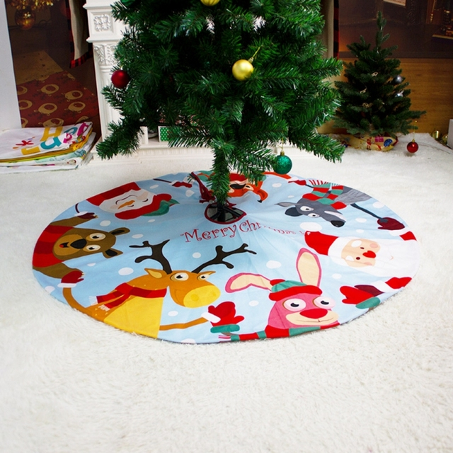 2021 Christmas Tree Skirt Santa Claus Elk Round Carpet Christmas Decorations For Home Party Office Floor Mat New Year Decor 5