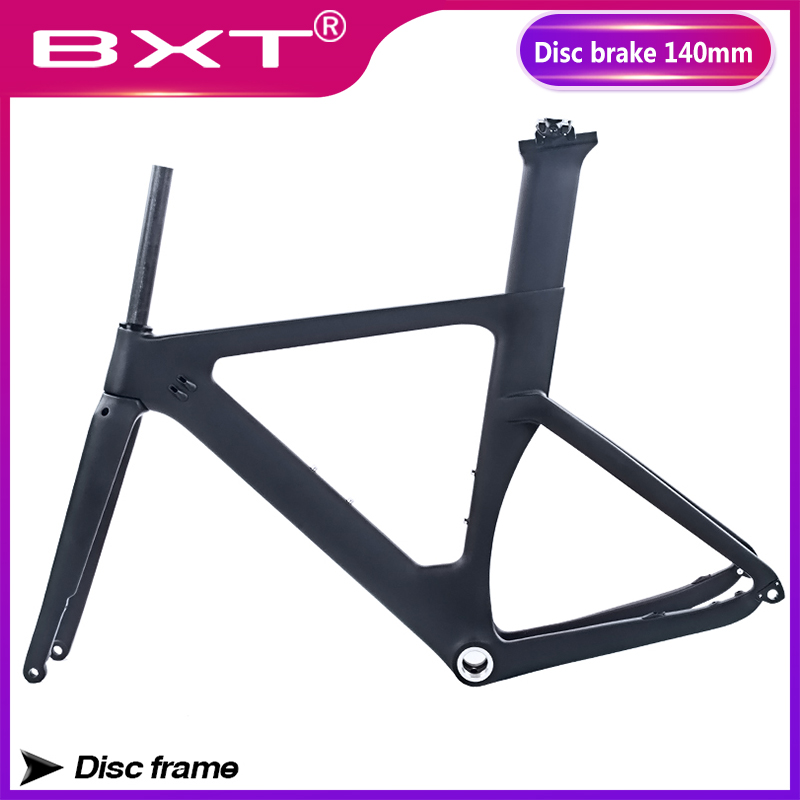 Carbon Road Bicycle Frame Disc Brake Road Bicycle Frame 700C Carbon Frame Fork Seatpost Headset Di2 Thru Axle Rear Derailleur