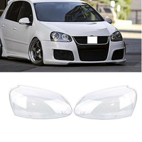 Pair Car Lights Headlight Head Lamp Cover Replacement Glass Clear Lems For VW Jetta Golf GTI Rabbit 2006 2007 2008 2009