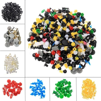 500/1000pcs Automotive Plastic Rivet Car Fender Bumper Interior Trim Push Pin Clips Kit Car Accessories image