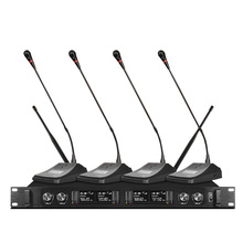Professional wireless microphone system 4-channel microphone 4 conference microphones for school meeting rooms high end uhf 8x50 channel goose neck desk wireless conference microphones system for meeting room