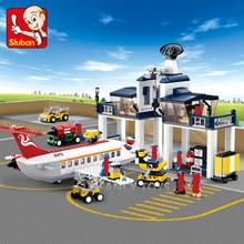 826Pcs City Aviation Airplane Airport Maintenance Base Building Blocks Sets Bricks Educational Toys for Children