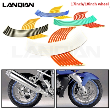 Motorcycle Strips Wheel Sticker Stripe Tape Accessory For Yamaha YZ WR TTR XT DT 80 85 125 230 250 426 450 600 F FX X Parts image