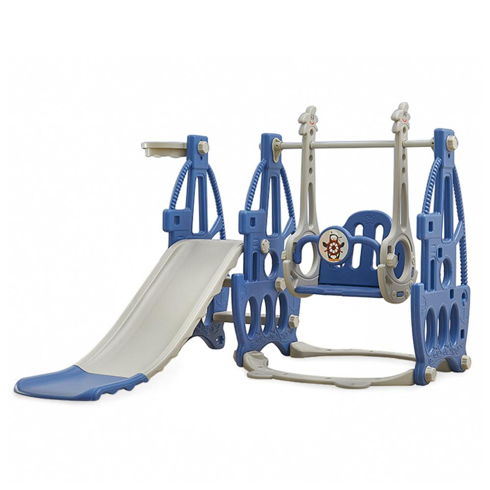 3 In 1 Children Slide And Swing Combination With Basket Baby Swing Chair Indoor Outdoor Kids Garden Slides Playground Sports Toy