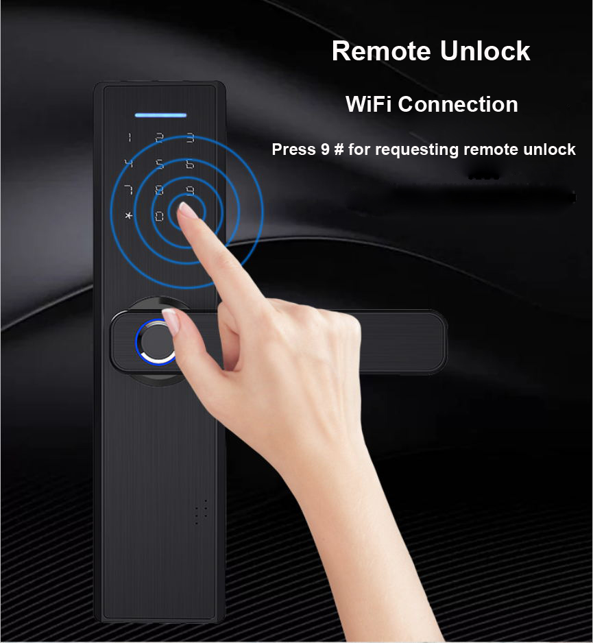 YOHEEN Electronic Smart Fingerprint Pad Lock with TUYA App Security for Intelligent Lock with Password and RFID card 11