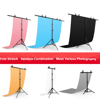 Professional T-shape Backdrop Background Stand Support Photography Photo Studio Metal Green Screen Frame Backdrop Bracket no need stand kit 7colors 1 6x1m photography studio green screen chroma key background non woven backdrop for photo studio