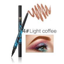цена на Double Head Pencil Waterproof Eyebrow Pen Non-Fade Long Lasting Eyebrown Makeup Pencil Beauty Cosmetic Tool + Eyeliner Pen