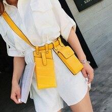 Женщин талии сумка Богемский PU кожаный ремень кроссбоди грудь сумки маленький телефон пакет плечо ремешок пакеты