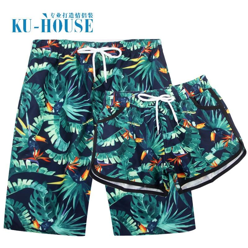 Beach Pants New Style Couples Beach Shorts Casual Holiday Popular Pattern Honeymoon Photo Shoot