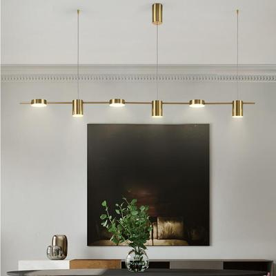 Modern Minimalist Restaurant Pendant Lamp Strip Minimalist Bar Table Dining Room Creative Long Shape Pendant Lights