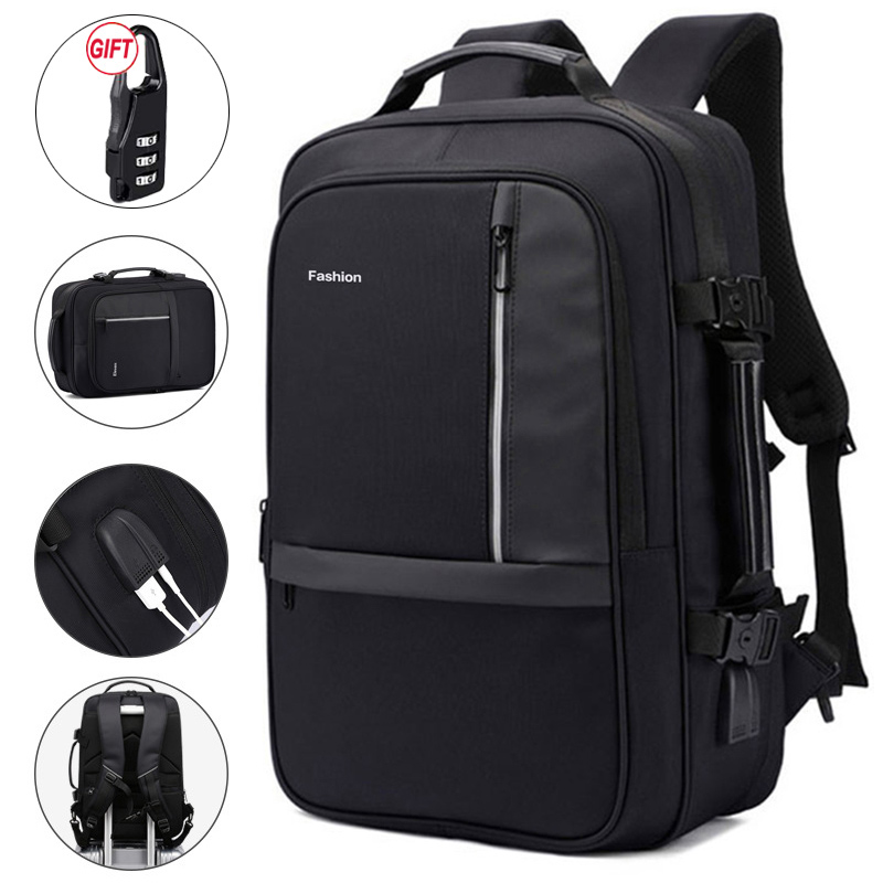 Men's Laptop Backpack 17.3 Inch Anti Theft Notebook Bakcpack 17 USB Charger Bagpack Travel Waterproof For Men Women Business Bag