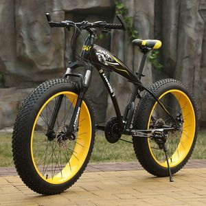 Snowmobile Mountain Bike 4.0 Large Tire Damping Speed Offroad Men Bike Double Disc Brakes