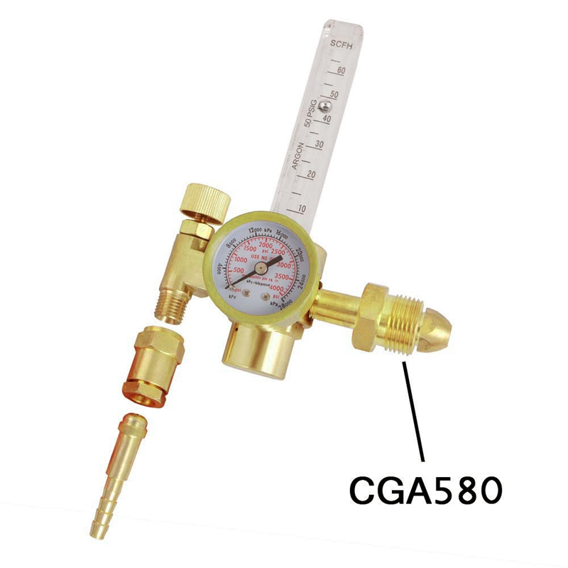 Argon CO2 Mig Tig Flow meter Regulator Welding Weld Gauge Gas Welder CGA580